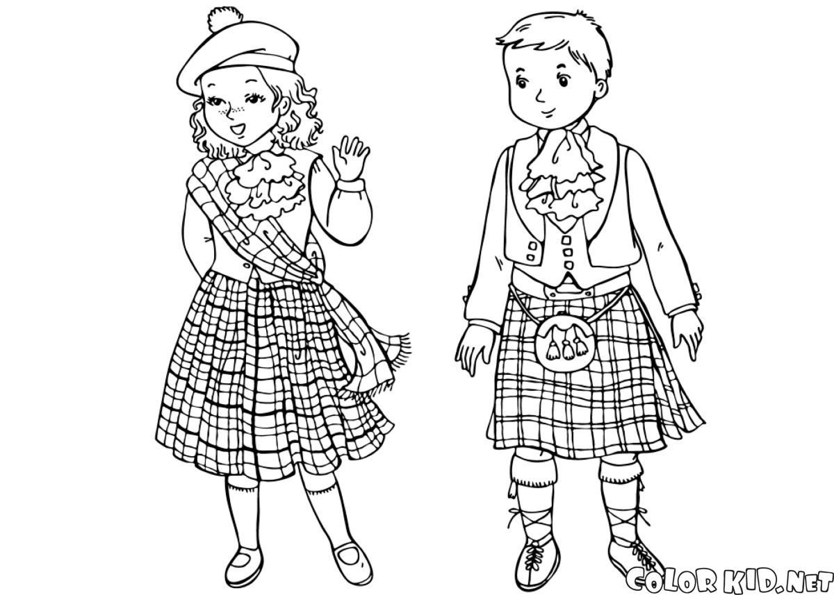 Enfants écossais