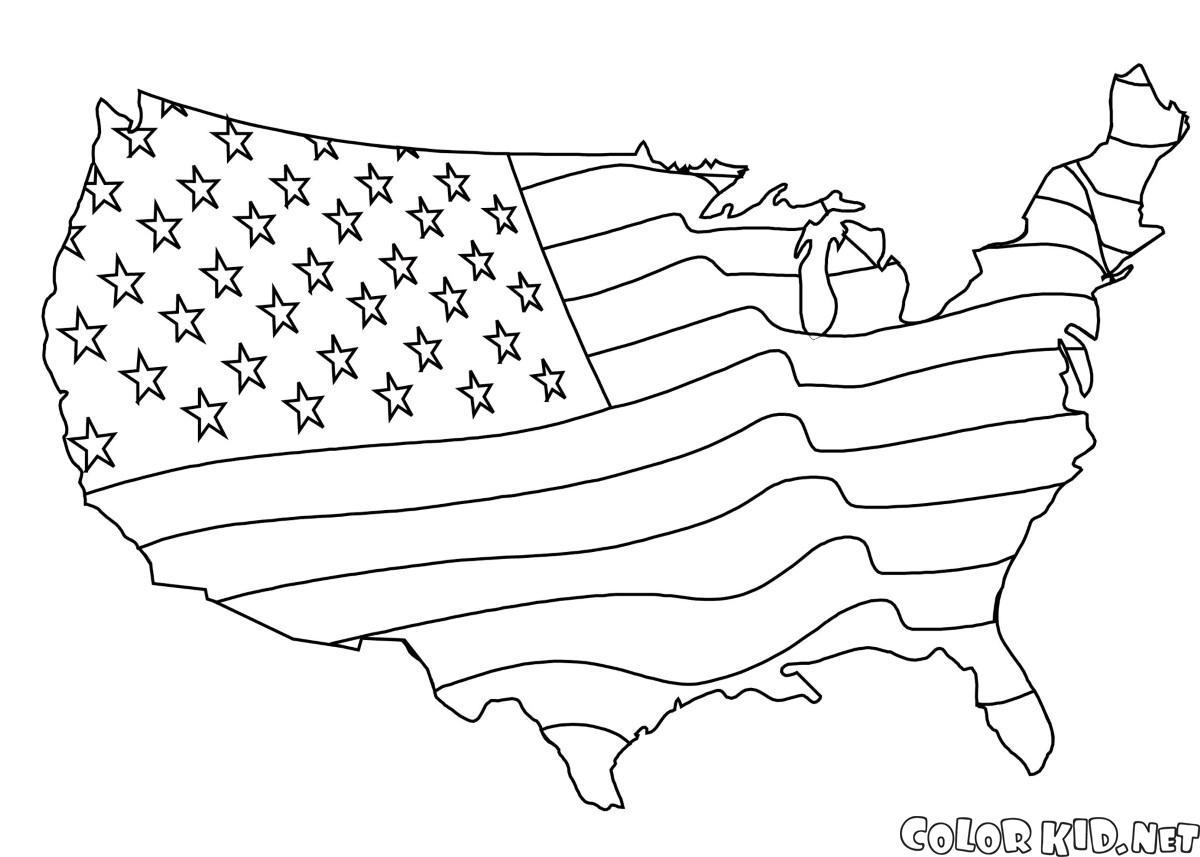 Drapeau américain Carte