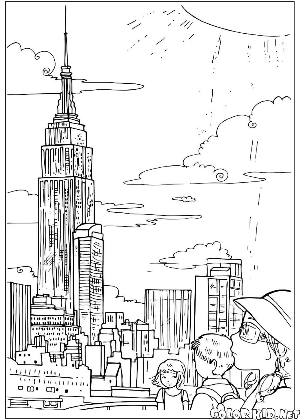 Как нарисовать Статую Свободы карандашом поэтапно