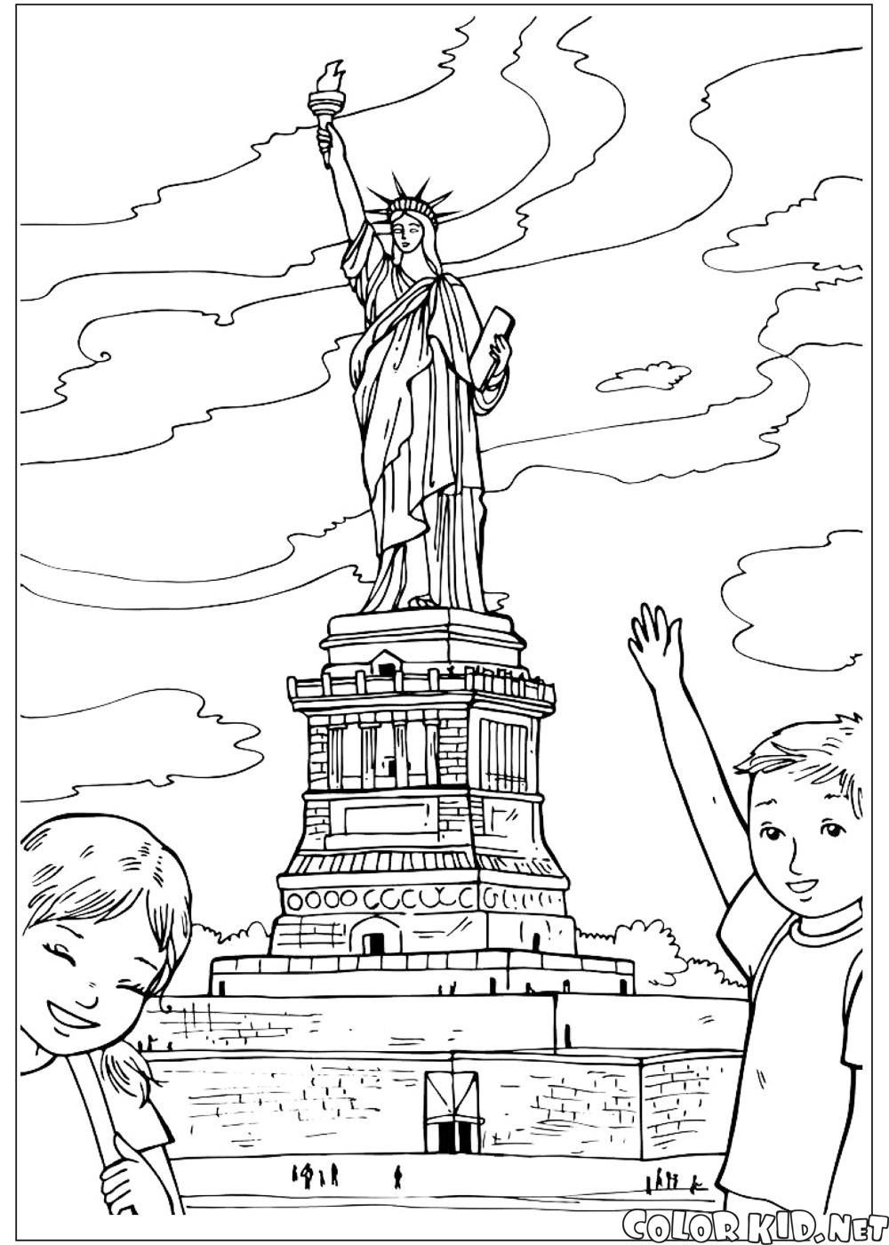 Ecriture Graffiti New York Empire State Building